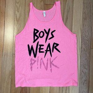 Todrick Hall Boys Wear Pink tank top